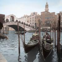 Alan Blaustein - Rialto Bridge Gondolas
