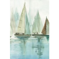 Allison Pearce - Blue Sailboats II