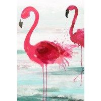 Aimee Wilson - Beach Flamingoes