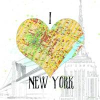 Carol Robinson - I love NY Map