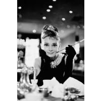 Audrey Hepburn - B/W Cig Portrait