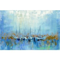 Silvia Vassileva - Boats in the Harbor I