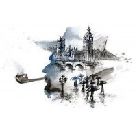 England - Plot Rainy City in Silhouette of Sherlock Holmes