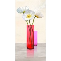 Ann Cynthia - Poppies in crystal vases (Purple II)