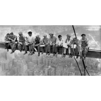 Charles C. Ebbets - New York Construction Workers Lunching on a Crossbeam 1932