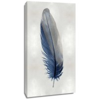 Julia Bosco - Blue Feather on Silver I