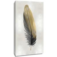 Julia Bosco - Gold Feather on Silver I