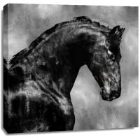 East Urban Home - Black Stallion On Gold