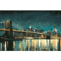 James Wiens - Bright City Lights Teal I