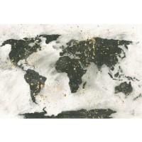 Chris Paschke - World Map Gold Speckle