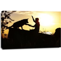 Leslie Walters - Silhouettes - Dog and Master