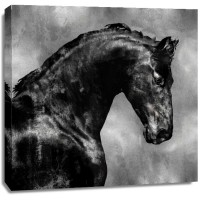 East Urban Home - Black Stallion On Gold
